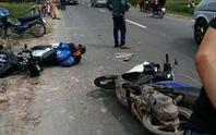 3 xe máy tông nhau, 1 người chết, 4 bị thương