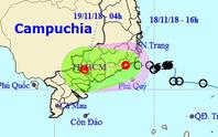 Áp thấp nhiệt đới quét qua TP HCM đêm nay