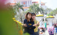 Khoác áo hoa ngày Tết, quảng trường Tam Kỳ đẹp lộng lẫy