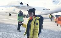Bóng hồng Việt chạy marathon ở Bắc Cực