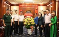 Lãnh đạo TP HCM tiếp Lữ đoàn 189 Hải quân đến thăm và chúc Tết