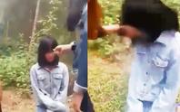 Xuất hiện clip nữ sinh lớp 7 bị nhóm bạn nữ bắt quỳ, tát vào mặt
