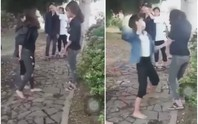 Xôn xao clip 2 nữ sinh đến trường uy hiếp, xử bạn vì… thích là đánh!