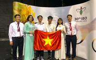 Cả 4 học sinh Việt Nam đều đoạt giải Olympic Sinh học quốc tế 2019