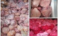 Phát hiện 40 tấn thịt heo, gà bốc mùi hôi tại tiệm sản xuất giò chả