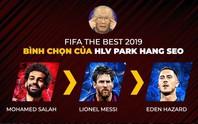 HLV Park Hang-seo không bầu Cristiano Ronaldo ở FIFA The Best 2019