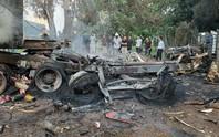 2 xe đầu kéo tông nhau, 1 người chết cháy trong cabin