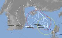 Thêm dự báo hướng đi bão số 8 - Saudel khi vào biển Đông