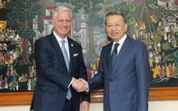 Bộ trưởng Công an Tô Lâm và Cố vấn An ninh quốc gia Mỹ Robert O'Brien hội đàm