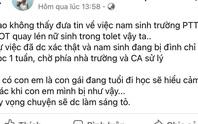 TP HCM: Nam sinh Trường THPT Giồng Ông Tố quay lén trong nhà vệ sinh nữ