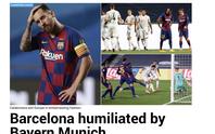 Báo chí Tây Ban Nha và châu Âu chê cười nỗi ô nhục Barcelona