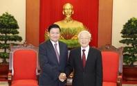 Tổng Bí thư, Chủ tịch nước Nguyễn Phú Trọng chúc mừng tân Tổng Bí thư Lào