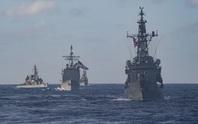 Tàu sân bay Mỹ tập trận rầm rộ với hải quân Nhật
