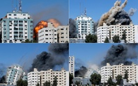 Một giờ tháo chạy trước khi Israel đánh sập tòa nhà truyền thông ở Gaza