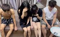 2 cô gái trẻ đẹp cùng 2 thanh niên thuê phòng trọ chơi ma túy