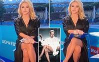 Xôn xao MC dẫn bản tin Euro không mặc nội y lên sóng truyền hình