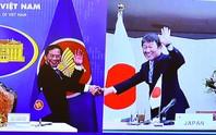 Bộ trưởng Ngoại giao Việt Nam - Nhật Bản bắt tay trực tuyến