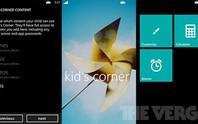 Kid's Corner giúp quản lý trẻ em dể dàng hơn trên WP8