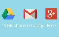 Google hợp nhất dịch vụ lưu trữ đám mây lên 15GB