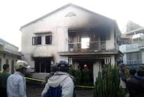 Cụ bà thoát chết trong ngôi nhà 2 tầng bốc cháy ngùn ngụt ở TP Đà Lạt