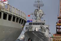 Cận cảnh bộ 3 tàu Hải quân Hoàng gia Úc thăm TP HCM