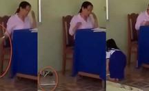 CLIP: Bức xúc việc giáo viên chấm bài xong rồi ném tập HS xuống đất