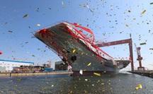 """""""Mỹ, Nhật bám đuôi"""" nhóm tàu sân bay Trung Quốc qua eo biển Đài Loan"""