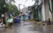 Quảng Nam đang bắt đầu hứng bão số 9