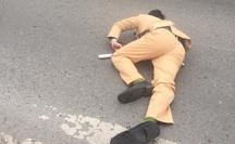 Trung úy CSGT bị xe máy tông trọng thương