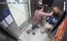 CLIP: Một phụ nữ bị gã đàn ông liên tục đánh đập trong thang máy ở TP HCM