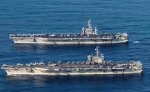 Biển Đông nóng hơn bao giờ hết, hai tàu sân bay Mỹ tập trận rầm rộ