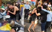 Cô gái đi xe Lexus LX570 bị đánh ghen trên phố: Công an dò số điện thoại 3 người liên quan