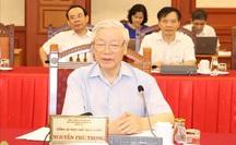 Tổng Bí thư, Chủ tịch nước chủ trì buổi làm việc với Thường vụ Thành ủy Hà Nội