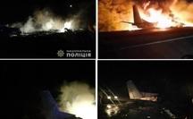 Máy bay quân sự Ukraine chìm trong khói lửa, 25 người chết
