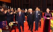 Chùm ảnh: Tổng Bí thư, Chủ tịch nước và các đại biểu dự phiên trù bị Đại hội XIII