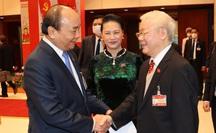 Chùm ảnh: Tổng Bí thư, Chủ tịch nước dự phiên thảo luận các văn kiện Đại hội XIII