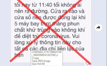 """TP HCM bác bỏ tin đồn thất thiệt """"5 máy bay trực thăng phun khử khuẩn vào tối nay"""""""