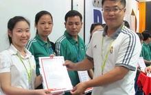 55 công nhân được cấp chứng chỉ nghiệp vụ