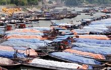 Cấm đò qua sông biên giới Việt-Trung trước bão Thần Sấm