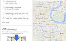 Dùng Google Maps offline trên iOS, Android