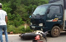 Tông vào đầu xe tải, 1 người tử vong