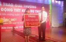 Agribank trao thưởng 1 tỉ đồng tại Kiên Giang