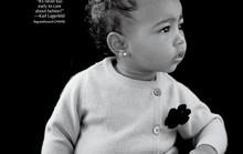 13 tháng tuổi, con gái Kim-Kanye thành người mẫu