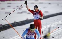 Nứt xương chân vẫn giành HCV trượt tuyết băng đồng 10km