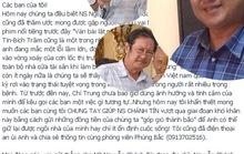 Đồng nghiệp chia sẻ, kêu gọi giúp đỡ NSƯT Nguyễn Chánh Tín