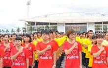 12.000 sinh viên Thủ đô xếp hình Tổ quốc, hát Quốc ca