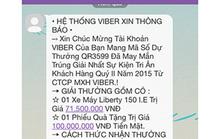 Lừa đảo trúng thưởng qua Viber
