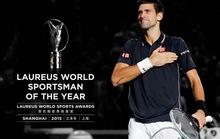 Djokovic qua mặt Ronaldo nhận giải thưởng nam VĐV số 1 thế giới