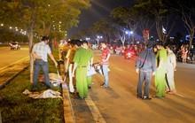 Xe máy trượt dài trên mặt đường, 1 người chết, 1 người  trọng thương