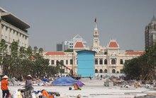 Gấp rút hoàn thành đường Nguyễn Huệ